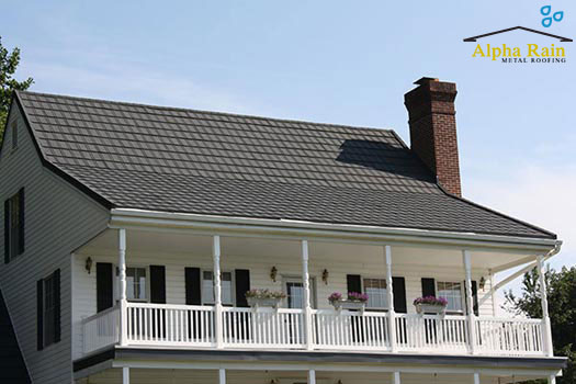 Stone Coated Slate Metal Roof metal roofing in virginia Photo Gallery Stone Coated Slate Metal Roof 2