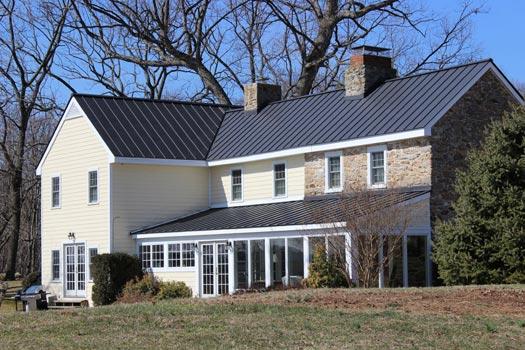 Beautiful Matte Black Standing Seam Metal Roof